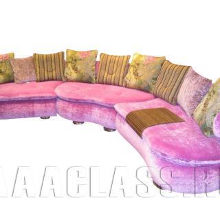 Розовый диван Искья