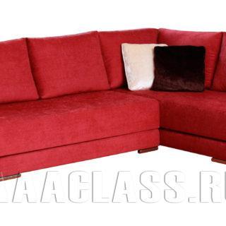 Угловой диван красного цвета