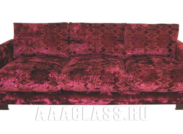 Красный диван Риальто по индивидуальным размерам на заказ