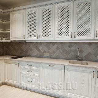 деревянная светлая кухонная мебель