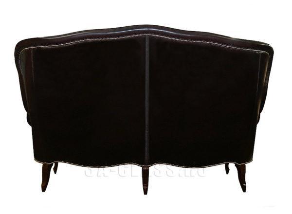 Компактный кожаный диван на заказ Соггето - вид сзади