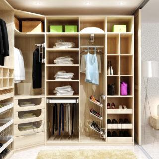 встроенная гардеробная комната с аксессуарами Vibo
