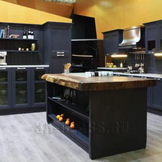 Кухня Манчестер в сером цвете на заказ по индивидуальным размерам