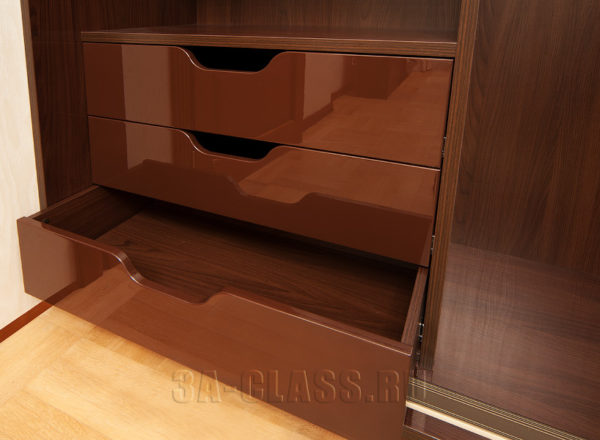 Ящики шкафа-купе из ДСП и МДФ на заказ от мебельного ателье ААА-Классика в Москве
