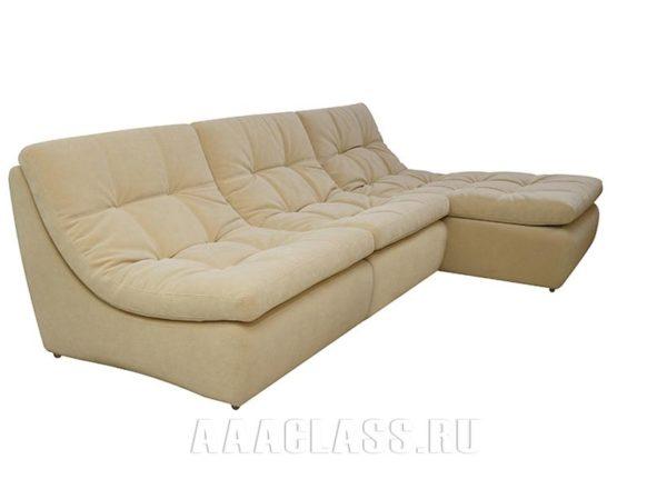Бежевый модульный диван Милан на заказ по индивидуальным размерам в Москве от мебельного ателье ААА-Классика