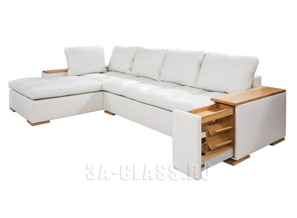 Диван с ящиками Амстердам на заказ по индивидуальным размерам в Москве от мебельного ателье ААА-Классика