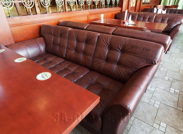 Диваны в ресторан на заказ на заказ по индивидуальным размерам в Москве