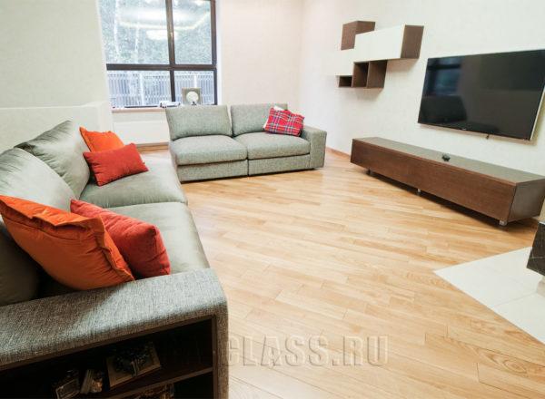 Дизайнерский диван в гостиную на заказ по индивидуальным размерам в Москве
