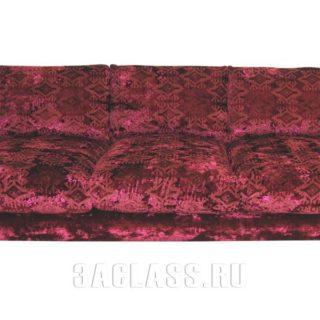 Красный диван Риальто по индивидуальным размерам на заказ в Москве