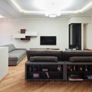 Модульный диван-библиотека на заказ по индивидуальным размерам в Москве