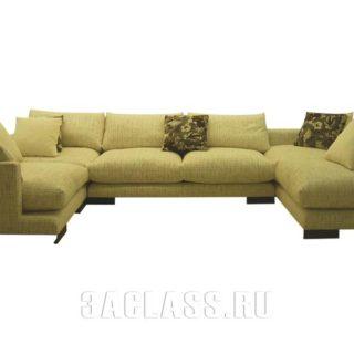 П-образный диван Риальто на заказ по индивидуальным проектам в Москве от мебельного ателье ААА-Классика