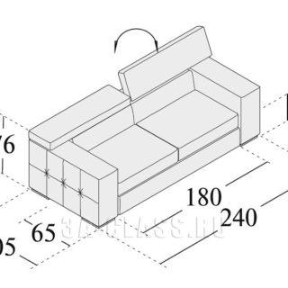 Размеры дивана Бостон