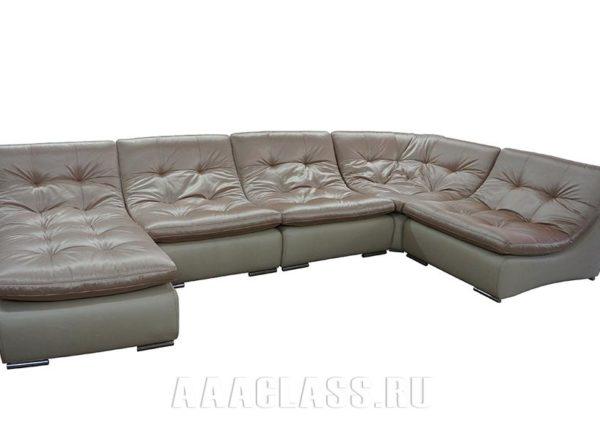 Розовый модульный диван Милан на заказ по индивидуальным размерам в Москве от мебельного ателье ААА-Классика