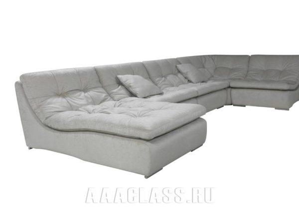 Серый модульный диван Милан на заказ по индивидуальным размерам в Москве от мебельного ателье ААА-Классика