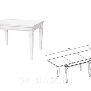 стол прямоугольный 'Афина аргенто'