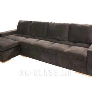 Темно-серый угловой диван Амстердам на заказ по индивидуальным проектам в Москве от мебельного ателье ААА-Классика