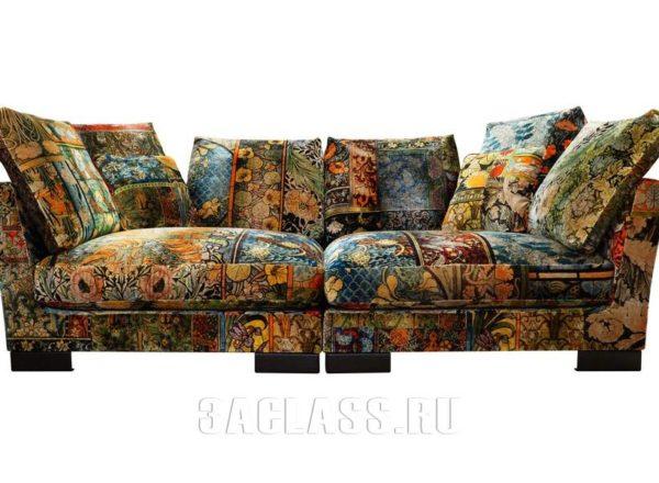 Яркий диван Ника на заказ по индивидуальным размерам В Москве от мебельного ателье ААА-Классика