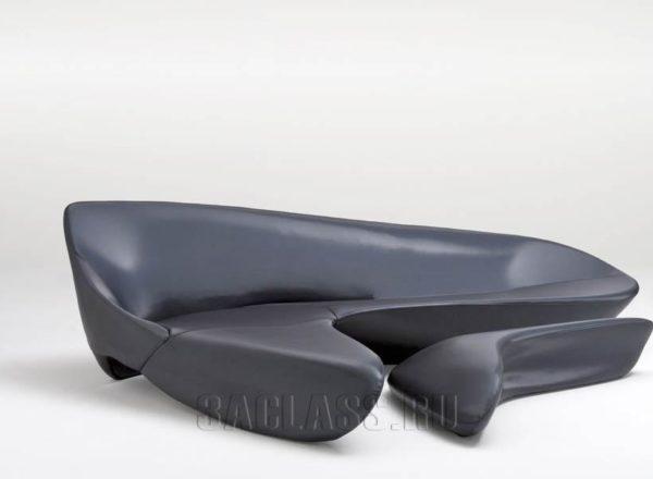 Черный диван Игуана