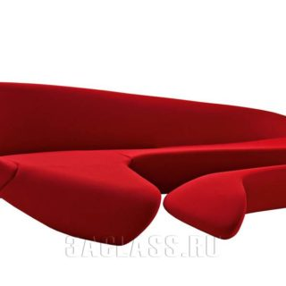 Красный диван Игуана