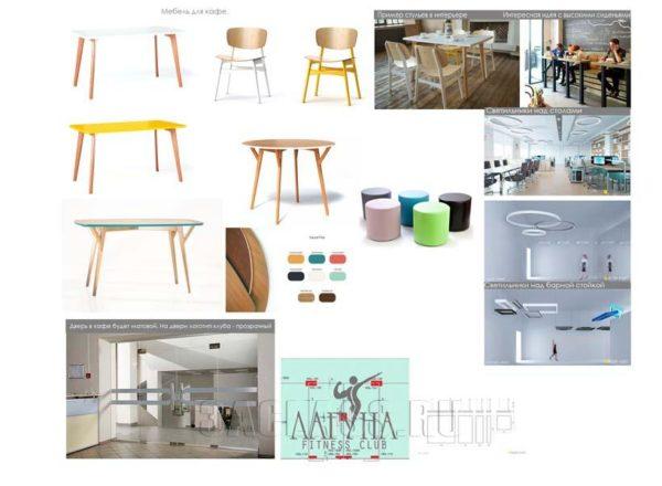 Элементы мебели в спортзал