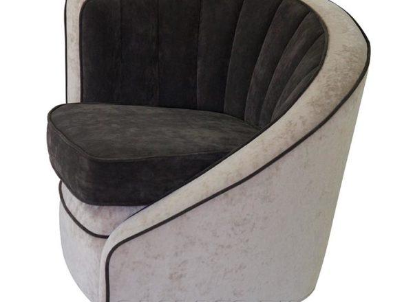 черно-белое Кресло Альварос на заказ по индивидуальным проектам в Москве от мебельного ателье ААА-Классика