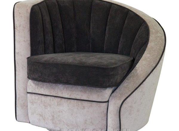 Необычное черно-белое кресло на заказ по индивидуальным проектам в Москве от мебельного ателье ААА-Классика