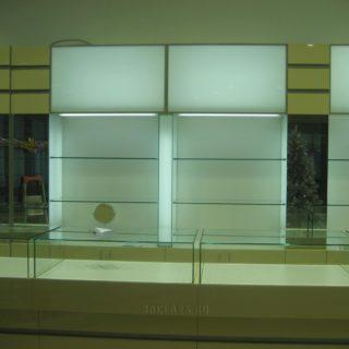 проект витрин и полок для ювелирного магазина