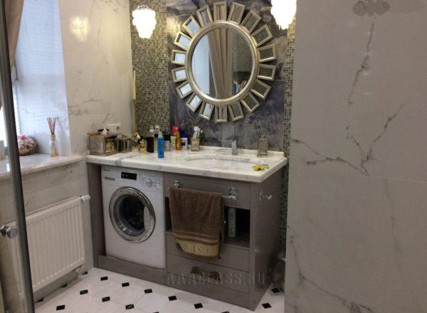 уникальная мебель в ванную на заказ по индивидуальным размерам от мебельного ателье ААА-Классика