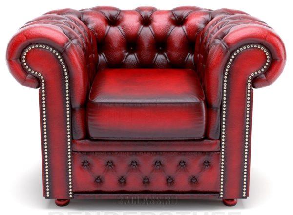 красное элитное кожаное кресло на заказ по индивидуальным проектам в Москве от мебельного ателье ААА-Классика