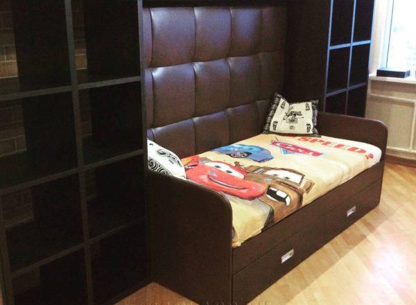 детская кровать со стенкой на заказ по индивидуальным размерам