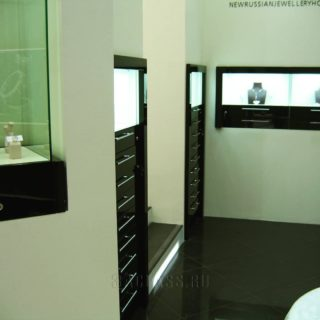 прилавки и витрины для ювелирного магазина ААА Классика - изготовление на заказ в Москве в мебельном ателье ААА Классика