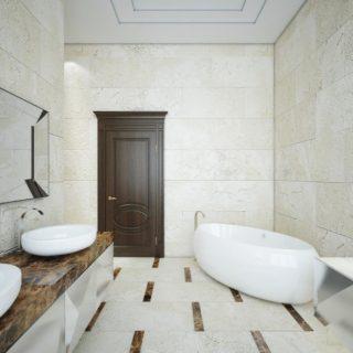 Дизайн просторной ванной комнатыы