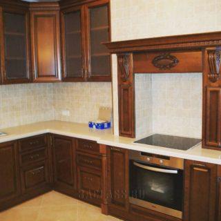 Дизайнерская кухня из дерева