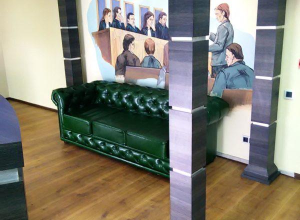 Классический диван манчестер на заказ по индивидуальным проектам для офиса в Москве от мебельного ателье ААА-Классика