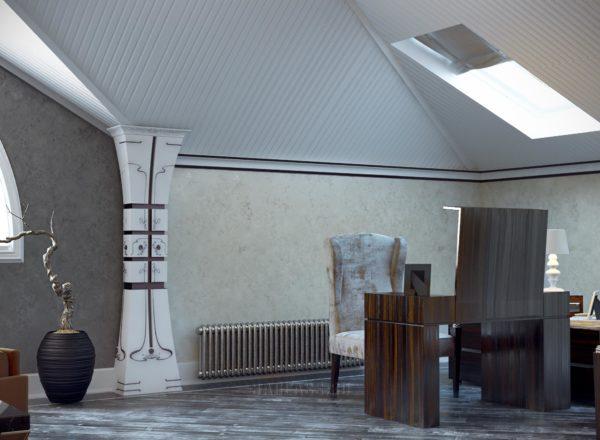 Комната для отдыха с окнами сафари