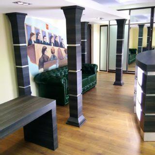 Корпусная мебель в офисе компании Перпетуум