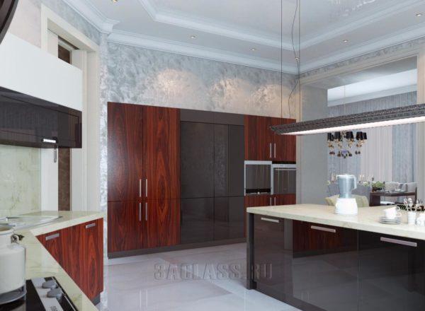 Кухня и обеденная зона в оригинальном стиле
