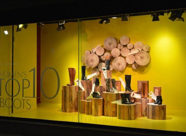 необычные витрины бутиков