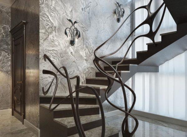 необычная лестница в дом