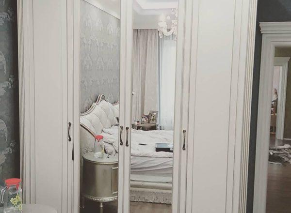 Четырехдверный шкаф в спальню на заказ