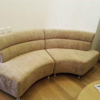полукруглый модульный диван на заказ по индивидуальным проектам в Москве от мебельного ателье ААА-Классика