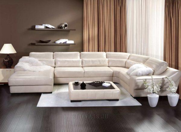п-образный диван на заказ по индивидуальным проектам в Москве от мебельного ателье ААА-Классика