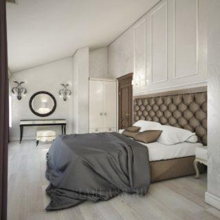 Спальня в пастельных тонах