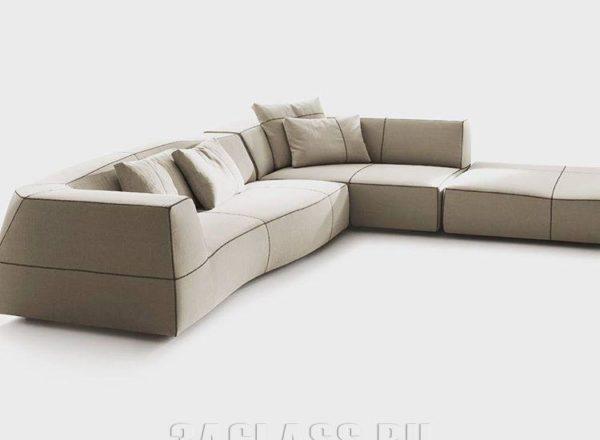 Дизайнерский угловой диван на заказ на заказ по индивидуальным проектам в Москве от мебельного ателье ААА-Классика