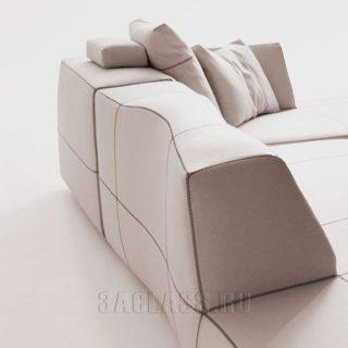 Мягкий угловой диван на заказ по индивидуальным проектам в Москве от мебельного ателье ААА-Классика