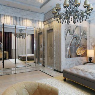 Зеркальный шкаф в спальню