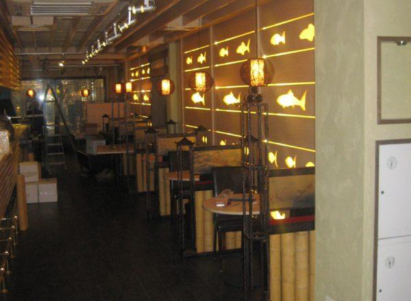 Мебель и дизайн ресторана
