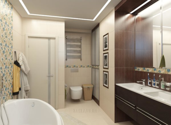 Интерьер ванной в квартиру