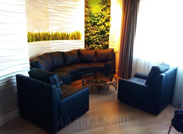 кожаная мебель в ресторан на заказ по индивидуальным размерам в Москве