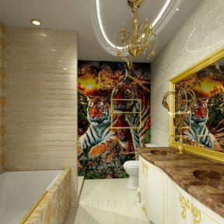 Мебель и панно в ванной